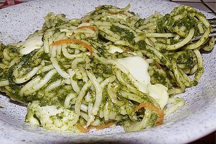 Töginger Spaghetti - Spinat - Omelett mit Mozzarella 1