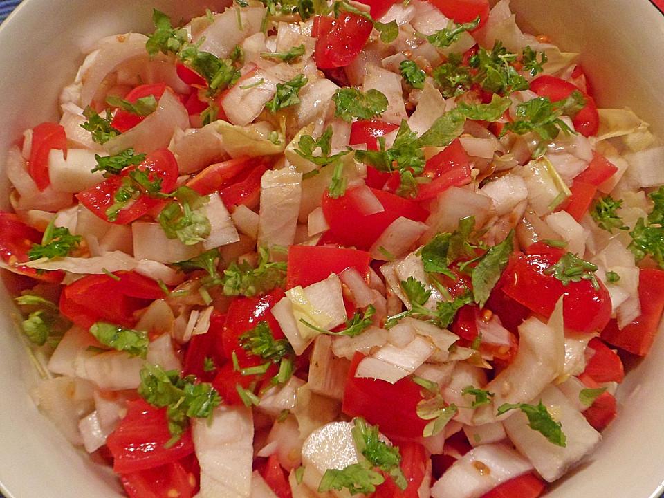 chicoree tomaten salat rezept mit bild von nordi87. Black Bedroom Furniture Sets. Home Design Ideas