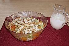 Putenschnitzel mit Eisberg - Möhren - Salat