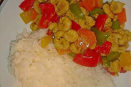 Axels Garnelen mit Curry Tandoori Paste mariniert