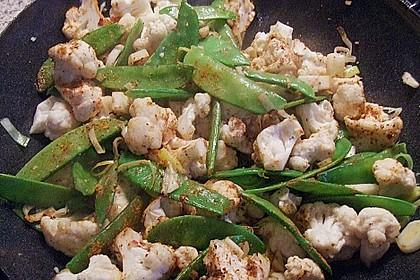Zuckererbsen-Blumenkohl-Curry 4