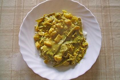 Zuckererbsen-Blumenkohl-Curry 7