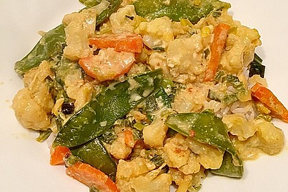 Zuckererbsen-Blumenkohl-Curry 3