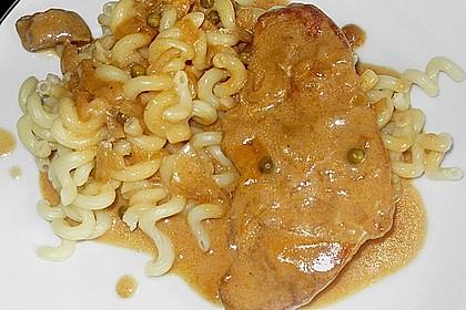 Scharfe Schnitzel an Weißweinsoße 1