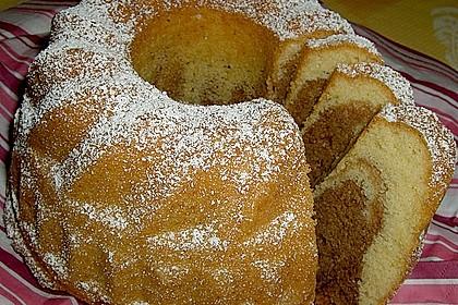 Marmorkuchen mit Mascarpone und Nougat 15