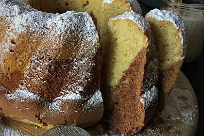 Marmorkuchen mit Mascarpone und Nougat 1