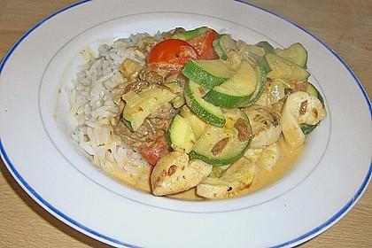 Puten - Zucchini - Pfanne mit Pfifferlingen 2