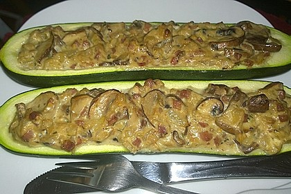 Gefüllte Zucchini 2