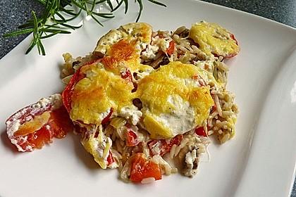 Auflauf mit Reis und Paprika 2