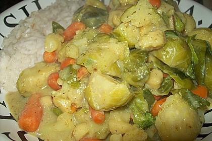 Rosenkohl in Apfel - Curry - Rahm 5