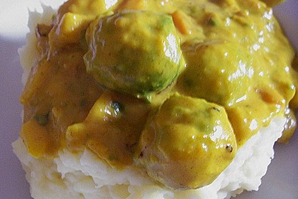Rosenkohl in Apfel - Curry - Rahm 12