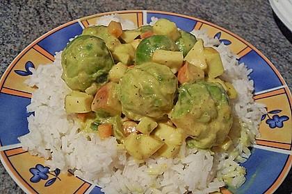 Rosenkohl in Apfel - Curry - Rahm 6