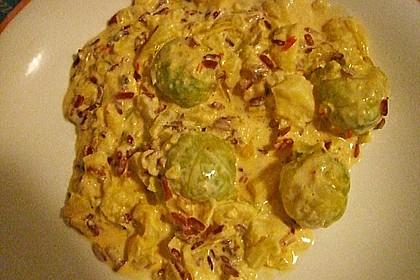 Rosenkohl in Apfel - Curry - Rahm 14