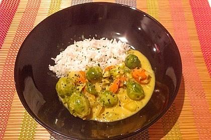 Rosenkohl in Apfel - Curry - Rahm 7