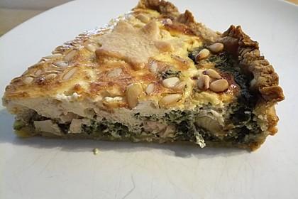 Quiche mit Lachs, Spinat und Pinienkernen 27