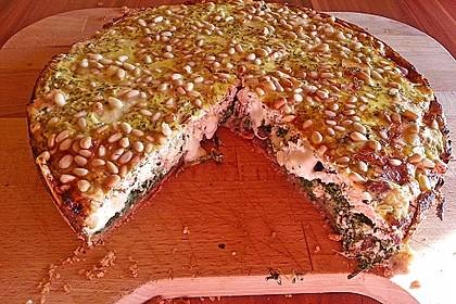 Quiche mit Lachs, Spinat und Pinienkernen 29