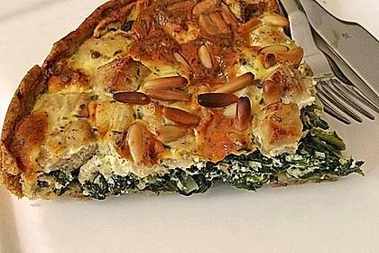 Quiche mit Lachs, Spinat und Pinienkernen 6