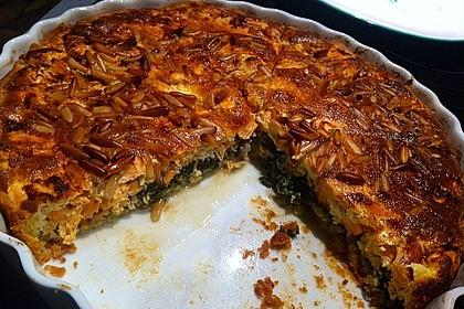 Quiche mit Lachs, Spinat und Pinienkernen 21