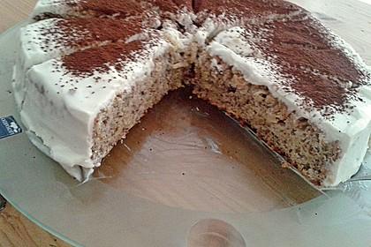 Fitness Apfel - Nuss Kuchen mit Quarkhaube 2
