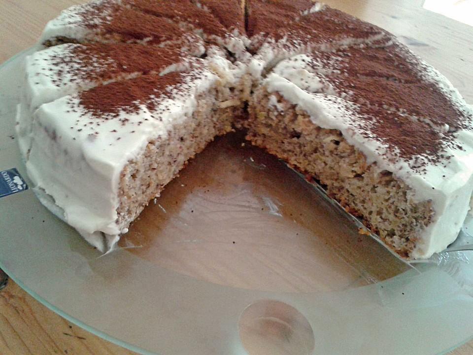 Kuchen mit apfelmus und quark