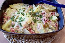 Kartoffelgratin alla Carbonara