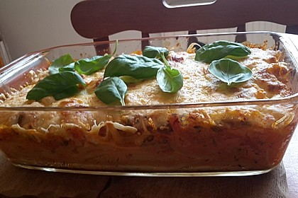 Tomate - Mozzarella - Basilikum - Makkaroni - Auflauf 7