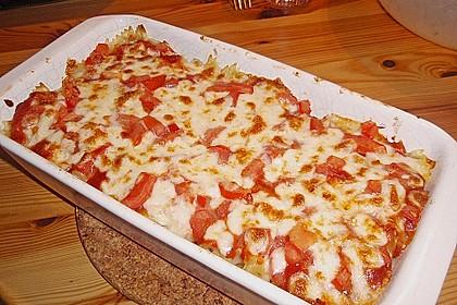 Tomate - Mozzarella - Basilikum - Makkaroni - Auflauf 5