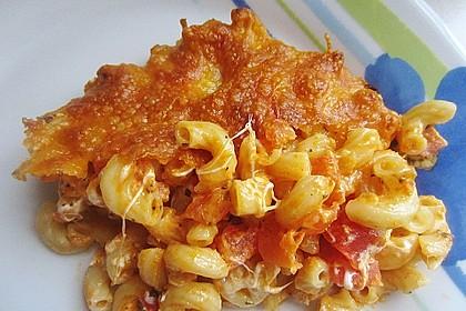 Tomate - Mozzarella - Basilikum - Makkaroni - Auflauf 4