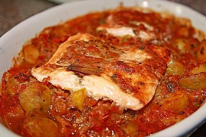1a Lachs mit Zucchini und Tomaten 0