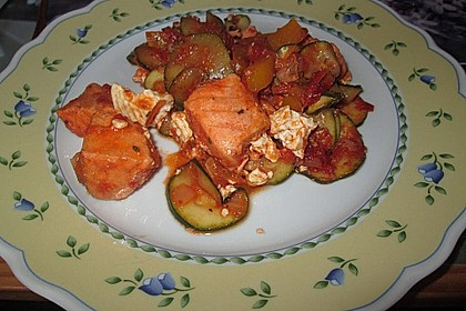 1a Lachs mit Zucchini und Tomaten 12