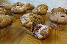 Weiße - Schokolade - Himbeer - Muffins