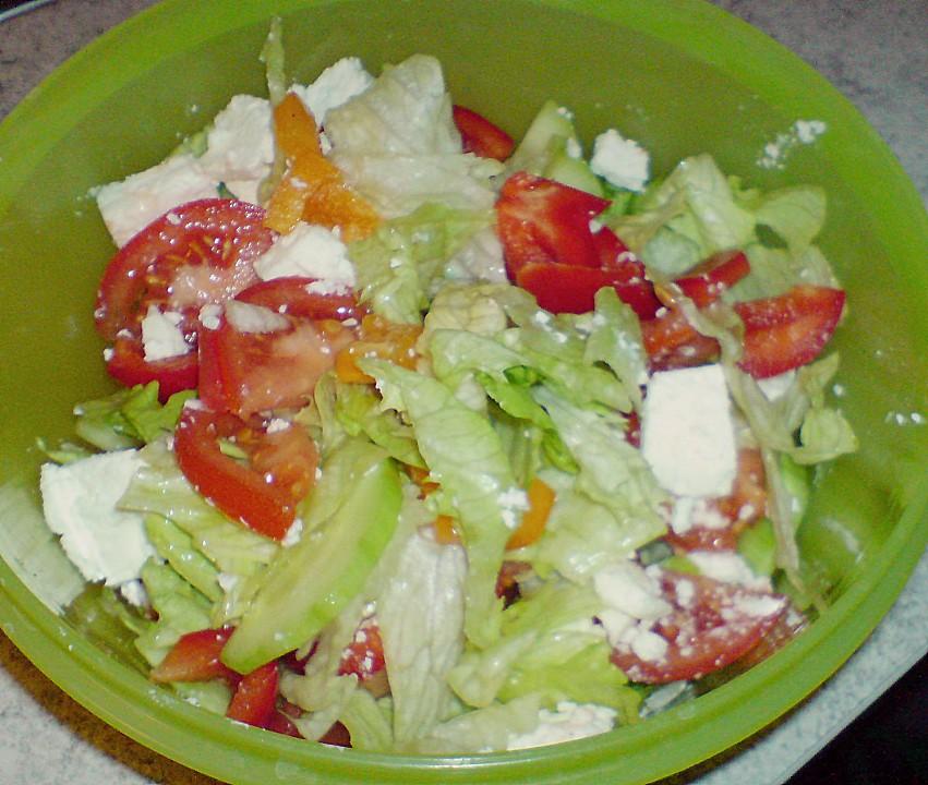 Salat mit feta kalorien