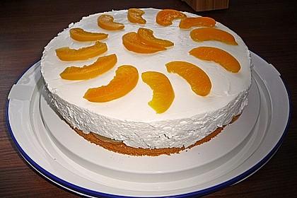 Quark sahne torte mit pfirsichen