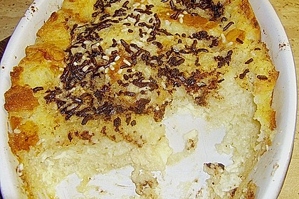 Bread and Butter - Pudding mit Schokostreuseln 1