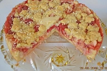 Apfel - Pie mit Himbeeren 1