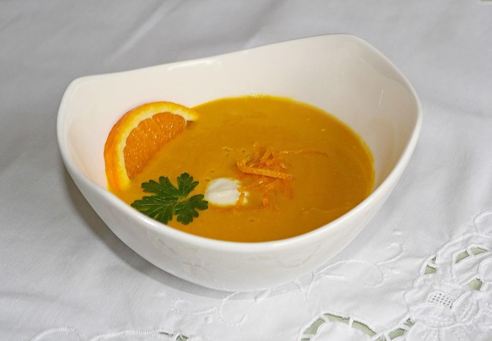 karottensuppe mit orangensaft und meerrettich rezept mit bild. Black Bedroom Furniture Sets. Home Design Ideas