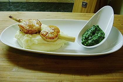 Jakobsmuscheln mit Zitronengras - Püree und Kräutersauce 2