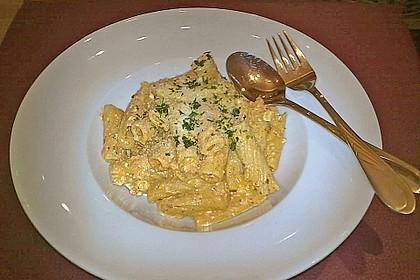 Spaghetti mit Schafskäse und Frischkäse - Pesto - Sauce 5