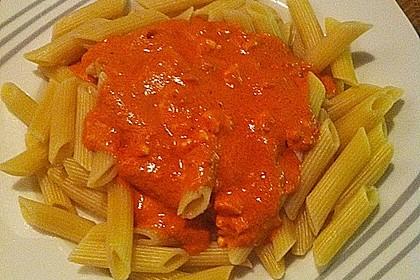 Spaghetti mit Schafskäse und Frischkäse - Pesto - Sauce 1