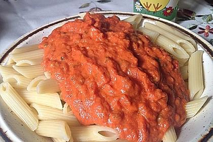 Spaghetti mit Schafskäse und Frischkäse - Pesto - Sauce