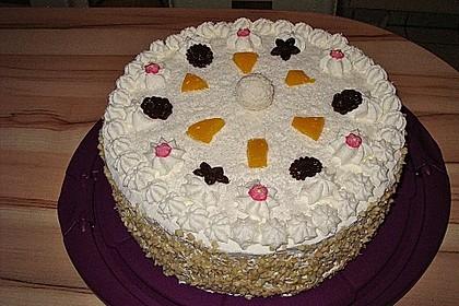 Pfirsich - Raffaello - Torte 4
