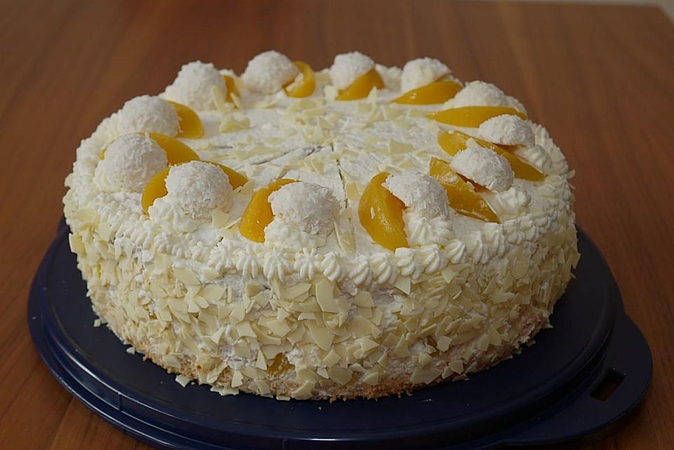 Pfirsich Raffaello Torte Rezept Mit Bild Von