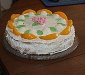 Pfirsich - Raffaello - Torte (Bild)