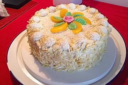 Pfirsich - Raffaello - Torte