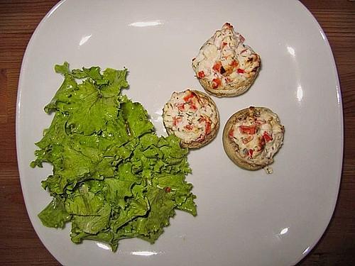 vegetarisch gef llte champignons auf reis rezept mit bild. Black Bedroom Furniture Sets. Home Design Ideas