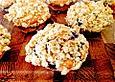 Streuselmuffins mit Äpfeln und Heidelbeeren