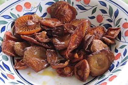 Reizker aus der Pfanne, ein Pilzgericht