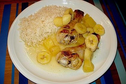 Hühnchen mit Ananas und Bananen 1