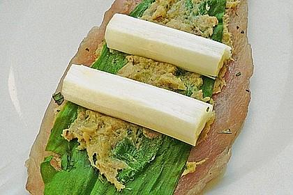 Kaninchen - Spargel - Rouladen mit Bärlauch 2