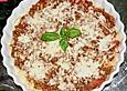 Überbackener Spaghettiauflauf, italienisch